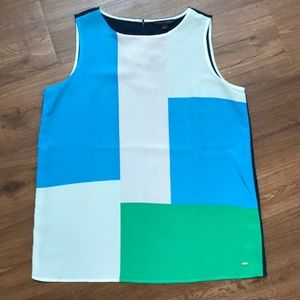 Tommy Hilfiger Colorblock sleeveless blouse